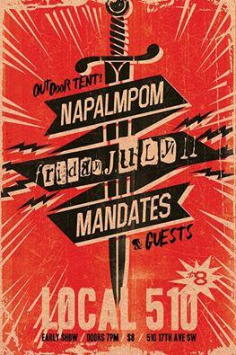 2014 - 07 11 - Napalmpm, The Mandates, Million Dollar Fix
