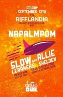 2014 - 09 12 - Napalmpom, Slow Learners, Allie Sheldan